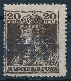 Muraszerdahely 1918 Károly 20f (a katalógus postatisztán nem ismeri, nagy ritkaság) Signed: Bodor (EUR 1.200,-...