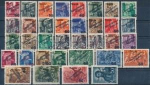 Ungvár II. 1945 48 bélyegből álló összeállítás (2.248.000) / 48 stamps. Signed, Certificate: Bodor ...