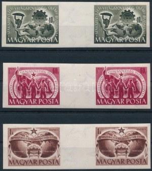 1950 Szakszervezet vágott ívközéprészes sor (220.000) (60f apró papírránc) / Mi 1098...