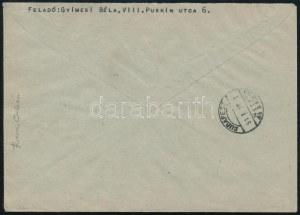 1950 Gyermek 60f tévnyomat 1951-es helyi ajánlott levélen, érkezési bélyegzéssel, Orbán Ferenc vizsgálójellel (600.000...