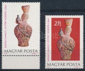 1978 Kovács Margit kerámiák 2Ft vörösesbarna háttér alapszín nélkül + támpéldány (200.000) ...