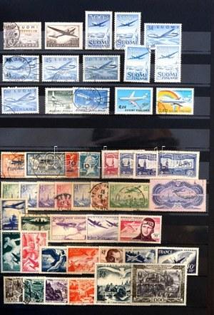 LÉGIPOSTA rendkívül tartalmas világgyűjtemény sok használatlannal és postatisztával, jó sorokkal és értékekkel, 18...