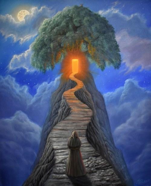 Konstantyn Płotnikow (ur. 1991), A Door to the Sky Temple, 2021