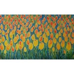 Beata Gaudy (ur. 1989), Żółte tulipany, 2021