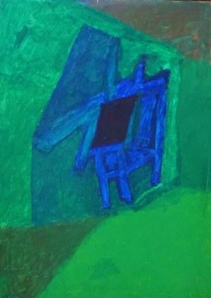 Anna Wojtczak (ur.1978), Niebiesko w zieleni, 2003