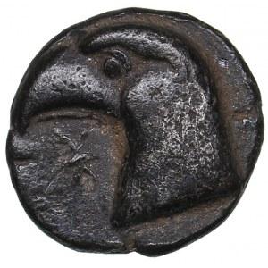 Aeolis - Kyme AR Hemiobol (480-450 BC)