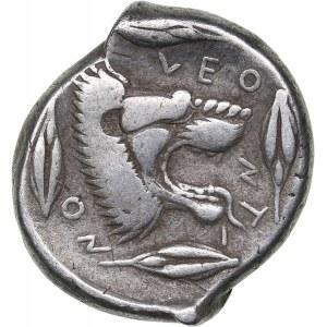 Sicily, Leontini AR Tetradrachm (Circa 450-440 BC)