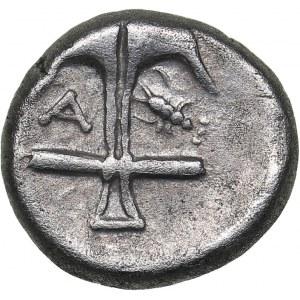 Thrace - Apollonia Pontica AR Diobol (circa 410-341 BC)