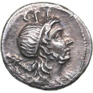 Roman Republic AR Denar - Cn. Cornelius Lentulus (76-75 BC)
