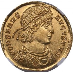 Roman Empire - Trier AV Solidus - Constans (337-350 AD) - NGC Ch MS