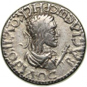 Bosporus Kingdom, Pantikapaion Stater BE 516 = 219/20 - Rhescuporis II, with Caracalla (211/2-226/7 AD)