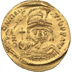 Byzantine - Constantinople AV Solidus - Maurice Tiberius (583-602 AD)