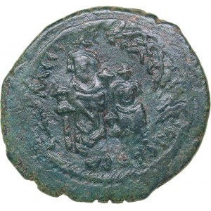 Byzantine AE Follis - Heraclius, with Heraclius Constantine (610-641 AD)