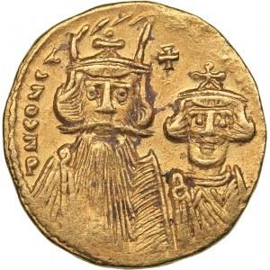 Byzantine - Constantinople AV Solidus - Constans II Pogonatus (641-668 AD)