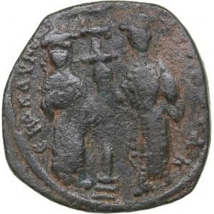 Byzantine AE Follis - Constantine X Ducas, with Eudocia (1059-1067 AD)