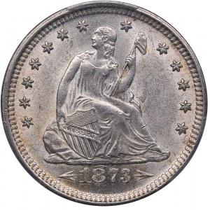 USA quarter - 25 cents 1873 - Arrows - PCGS MS 62
