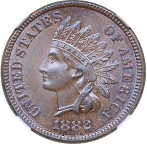 USA 1 cent 1882 - NGC MS 63 BN