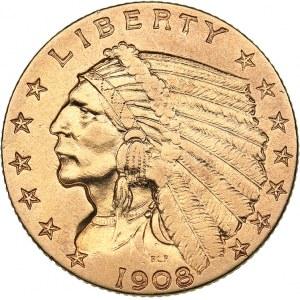 USA 2 1/2 dollars 1908