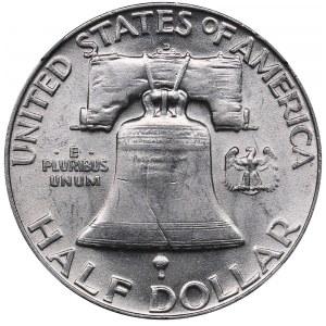 USA 1/2 dollars 1952 D - NGC AU 58