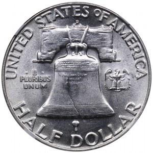 USA 1/2 dollars 1954 D - NGC AU 58 FBL