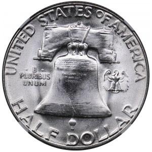USA 1/2 dollars 1954 S - NGC MS 65