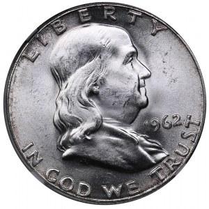 USA 1/2 dollars 1962 - NGC MS 64