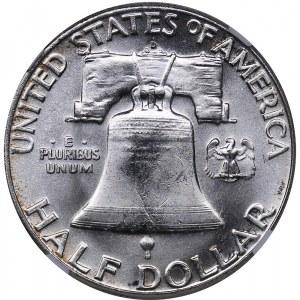 USA 1/2 dollars 1963 D - NGC MS 64