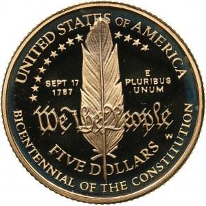 USA 5 dollars 1987