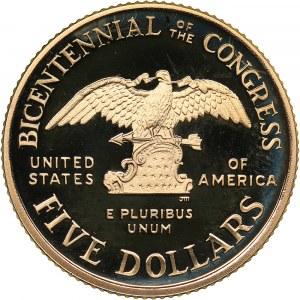 USA 5 dollars 1989
