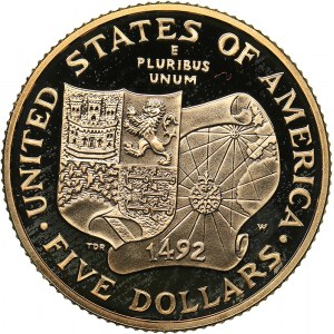 USA 5 dollars 1992
