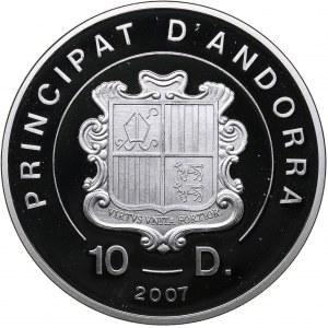 Andorra 10 dinar 2007 - Olympics Beijing 2008