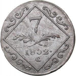 Austria 7 kreuzer 1802 C