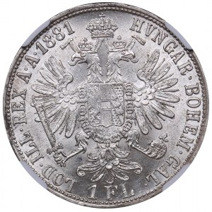 Austria Florin 1861 - NGC AU 58