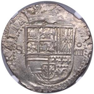 Spain - Sevilla 4 reales ND (1556-1598) - NGC AU 58