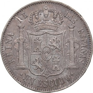 Spain 1 escudo 1868