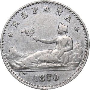 Spain 50 centavos 1870