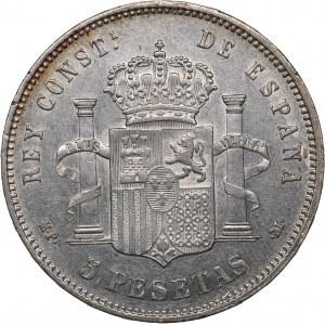 Spain 5 pesetas 1889