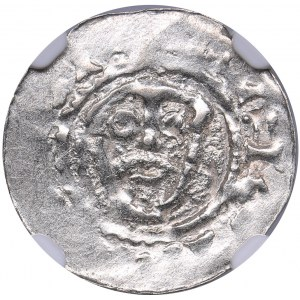 Netherlands - Friesland Denar - Godfried the Bearded (1050-1069) - NGC MS 62