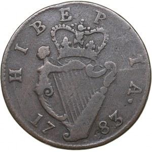 Ireland Æ counterfeit halfpenny 1783 - George III (1760-1820)