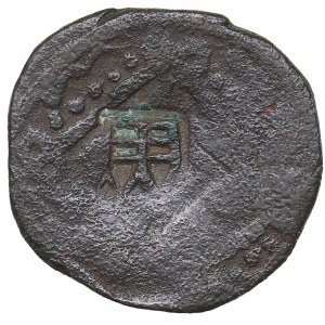 Italy - Genova - Caffa countermark on Golden Horde AE Pulo? 14th c.