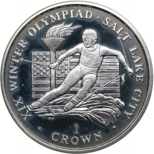 Isle of Man 1 crown 2002 - Olympics Salt Lake 2002