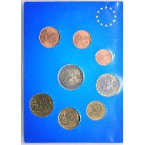 Monaco set of coins 2001