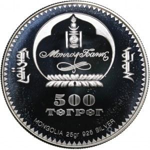 Mongolia 500 tugrik 2001 - Olympics Salt Lake 2002