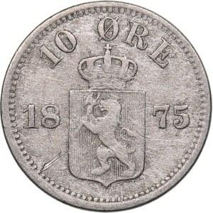 Norway 10 ore 1875