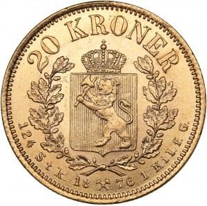 Norway 20 kroner 1876