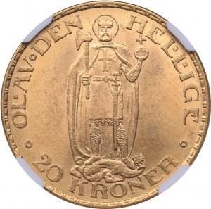 Norway 20 kroner 1910 - NGC 62