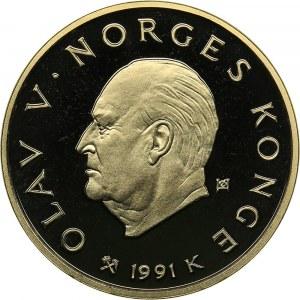 Norway 1500 kroner 1991 - Olympics Lillehammer 1994