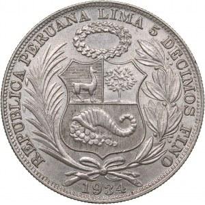 Peru 1 sol 1934