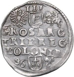 Poland - Poznan 3 grosz 1586 - Stephen Batory (1576-1586)