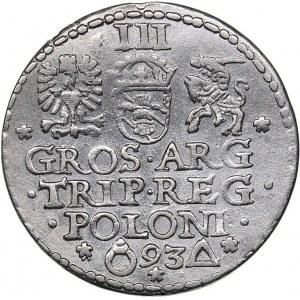Poland - Malbork 3 grosz 1593 - Sigismund III (1587-1632)